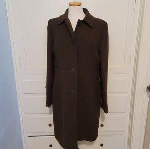 J. Crew Chocolate Wool coat